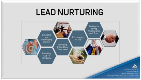Sales lead nurturing with value-driven follow-up